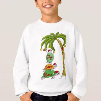 Tortuga hawaiana Santas del navidad Sudadera