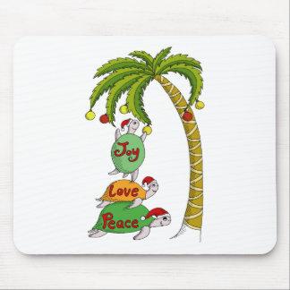 Tortuga hawaiana Santas del navidad Alfombrilla De Ratones