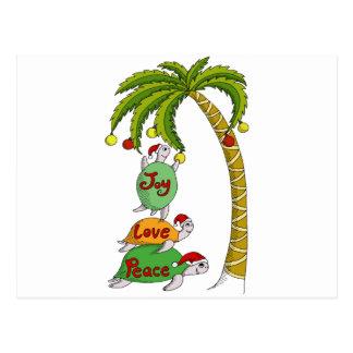 Tortuga hawaiana Santas del navidad Postales