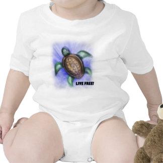 Tortuga libre viva trajes de bebé