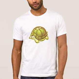 Tortuga linda amarilla del dibujo animado camisetas