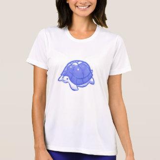 Tortuga linda azul del dibujo animado playeras