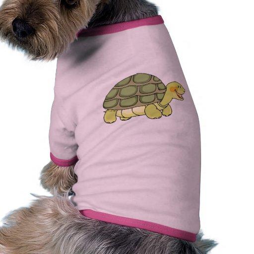 Tortuga linda camiseta con mangas para perro
