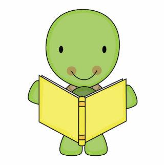 tortuga linda de la lectura fotoescultura vertical