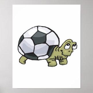 tortuga linda del fútbol póster
