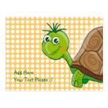 Tortuga linda - el verde burbujea postal