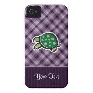 Tortuga linda; Púrpura iPhone 4 Case-Mate Cobertura