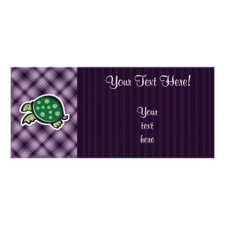 Tortuga linda; Púrpura Tarjeta Publicitaria