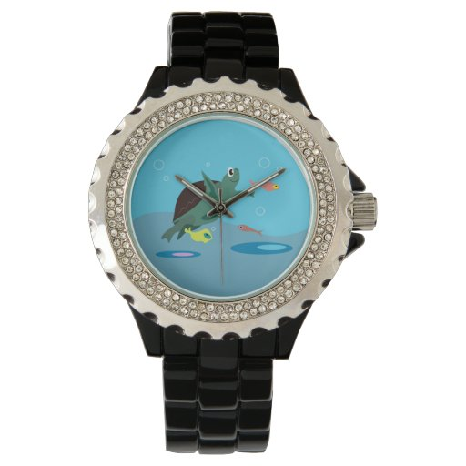 Tortuga linda reloj de mano