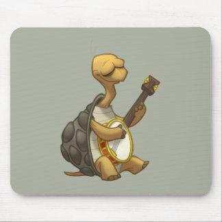 Tortuga Mousepad del Banjo-Strummin' Tapetes De Ratón