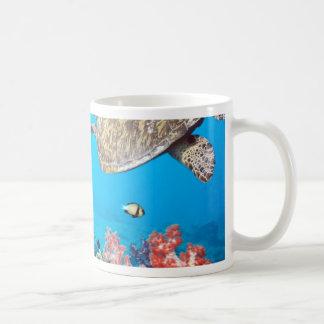 Tortuga Naturescape del arrecife de coral Taza De Café
