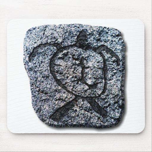 Tortuga-piedra hawaiana tapete de ratones