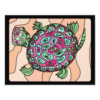 """Tortuga pintada invitación 4.25"""" x 5.5"""""""