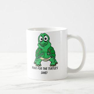 ¡Tortuga Pogo para el motivo de la tortuga Tazas De Café