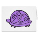 Tortuga púrpura tarjeta de felicitación