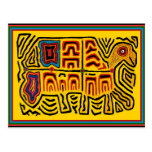Tortuga que camina tribal india de Kuna Postales