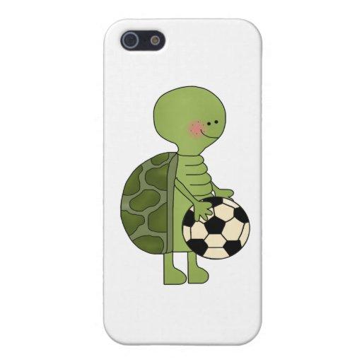 Tortuga que juega a fútbol iPhone 5 cobertura