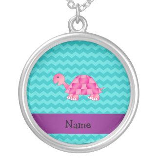 Tortuga rosada conocida personalizada grimpolas personalizadas