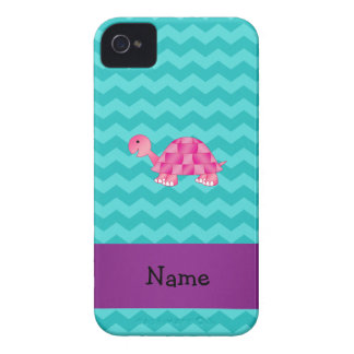 Tortuga rosada conocida personalizada iPhone 4 funda