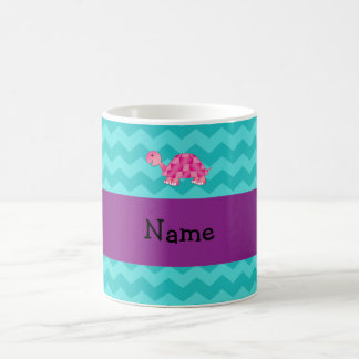 Tortuga rosada conocida personalizada taza