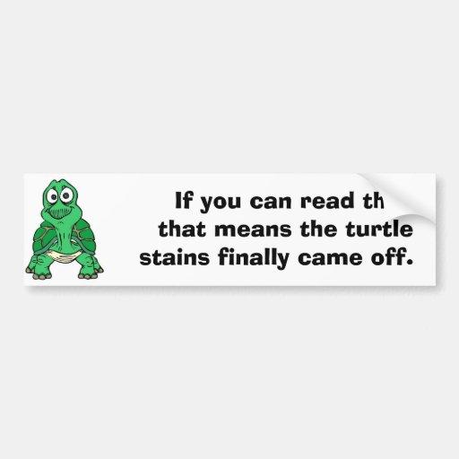 Tortuga, si usted puede leer el, que significa al  pegatina de parachoque