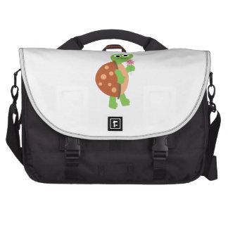 Tortuga sonriente bolsas para portátil