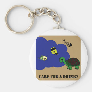 tortuga tóxica del agua llavero redondo tipo pin