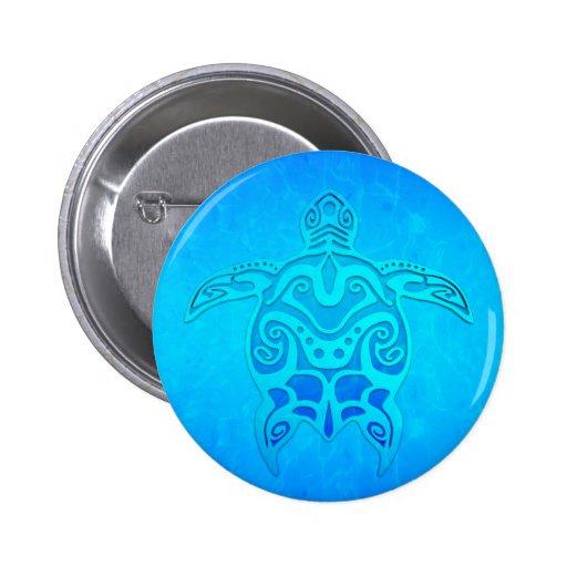 Tortuga tribal azul