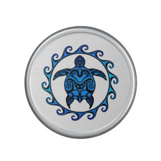 Tortuga tribal azul Sun Altavoz Bluetooth