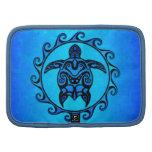 Tortuga tribal azul Sun Organizador