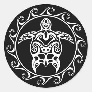 Tortuga tribal blanca