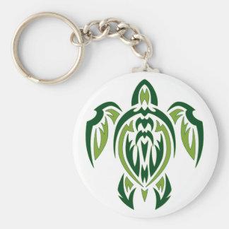 Tortuga tribal llaveros personalizados