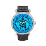 Tortuga tribal negra reloj