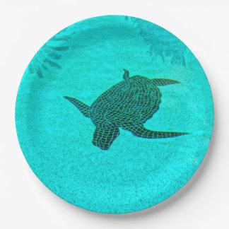 Tortuga Turtle Mosaic on Sanibel Island Florida Paper Plate