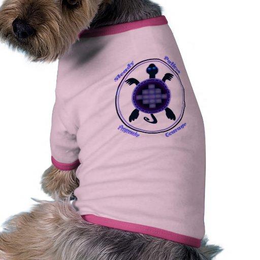 Tortuga valerosa - ropa indicada con letras del ma ropa de perros