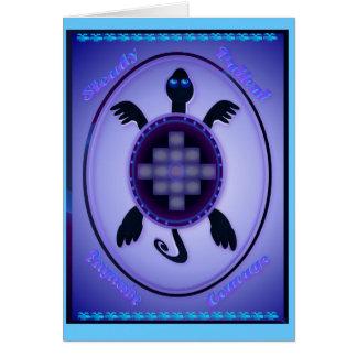 Tortuga valerosa - tarjeta indicada con letras