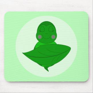 Tortuga verde el dormir tapete de ratones