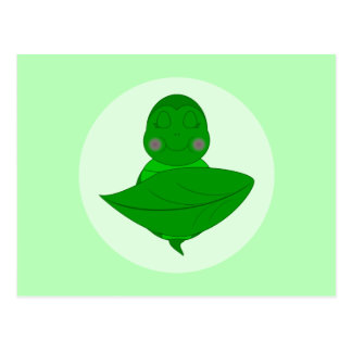 Tortuga verde el dormir tarjetas postales