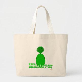 Tortuga verde soñolienta lo que bolsas de mano
