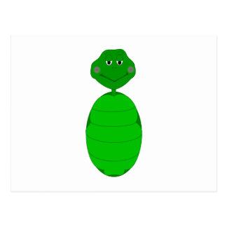 Tortuga verde soñolienta postales