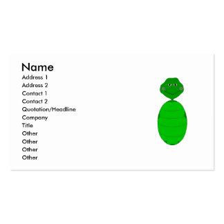 Tortuga verde soñolienta plantillas de tarjetas personales