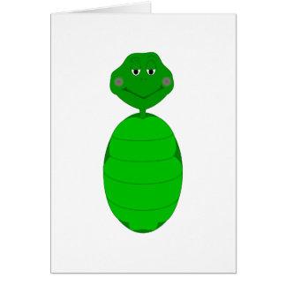 Tortuga verde soñolienta tarjeta de felicitación