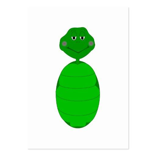 Tortuga verde soñolienta tarjetas de visita grandes