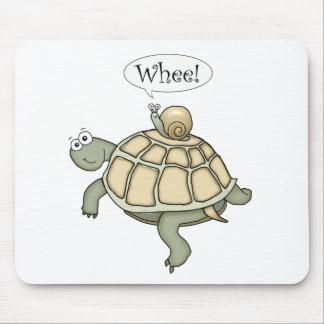 ¡Tortuga y caracol Whee! Alfombrilla De Ratones