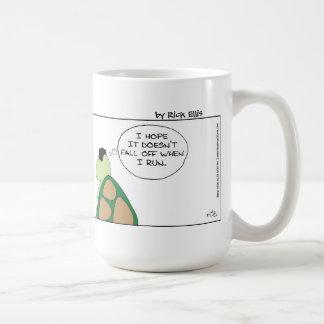 Tortuga y el postizo taza de café