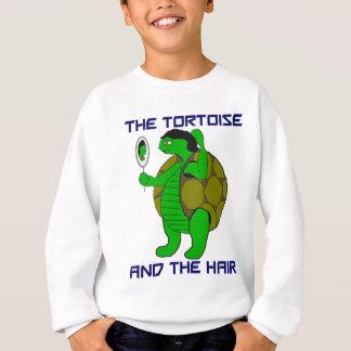 Tortuga y la camiseta de los niños del pelo