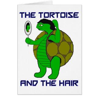 Tortuga y la tarjeta del estímulo del pelo