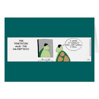 Tortuga y la tarjeta del postizo