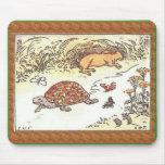 Tortuga y las liebres tapete de raton