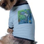 Tortuga y pescados de mar ropa para mascota